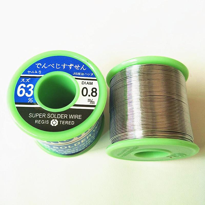 中亚焊锡丝63A%高纯度免清洗0.5mm0.8mm1.0m低温松香芯63/37包邮