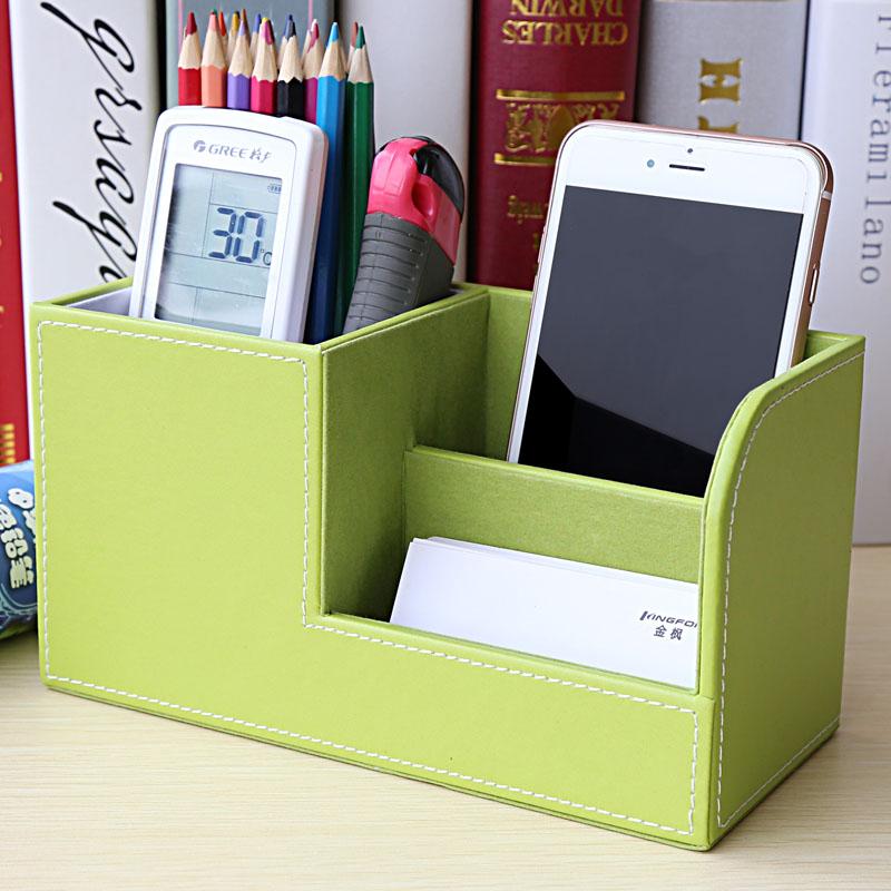 桌面多功能笔筒文具名片收纳盒办公室创意时尚学生北欧可爱小清新