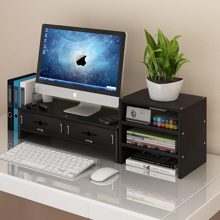 护颈电脑显示器屏增高架办公室液晶底座桌面键盘收纳盒置物整理