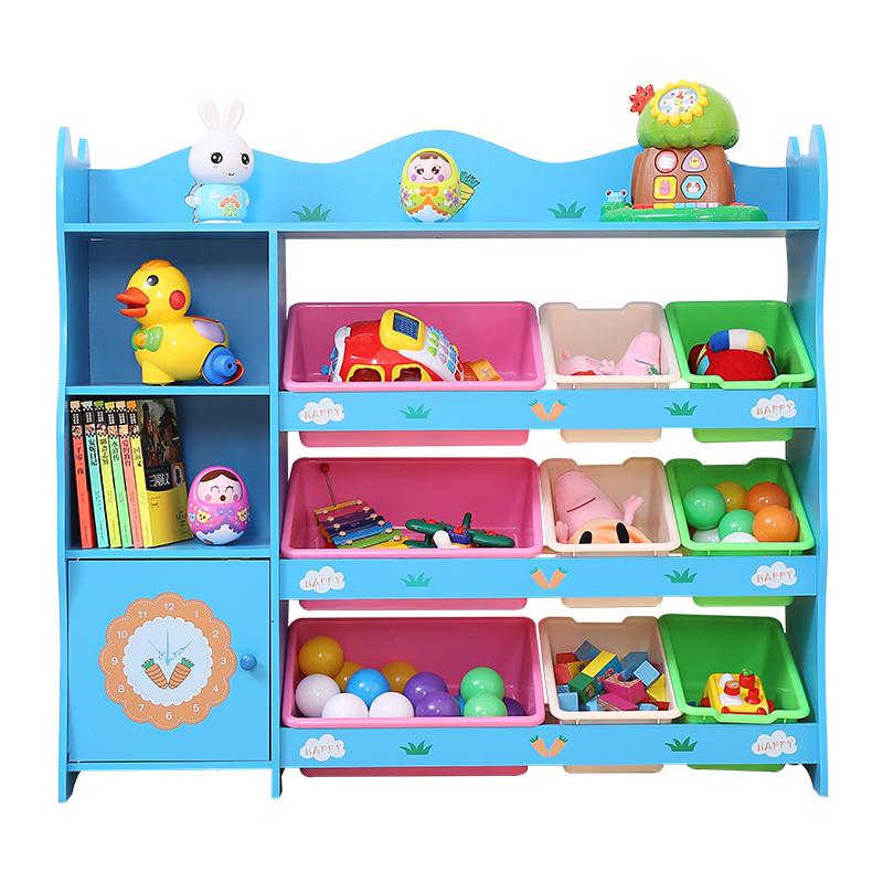喜贝贝儿童玩具收纳架宝宝收纳柜整理架幼儿园绘本书架置物储物架
