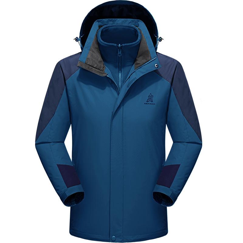 稻草人户外冲锋衣男女士三合一两件套加绒加厚秋冬季保暖潮牌外套