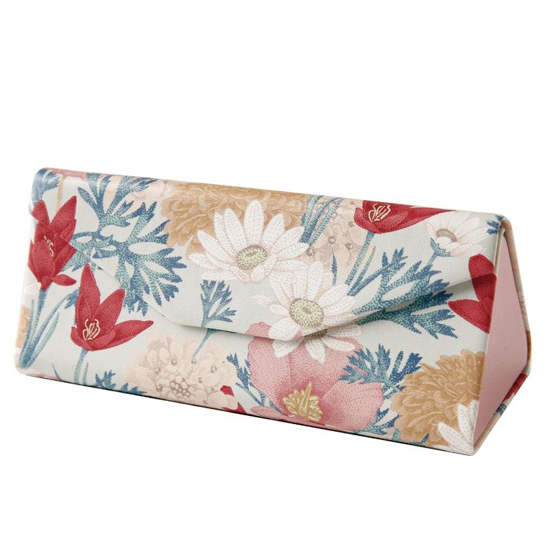 少女花朵 女韩国小清新便携墨镜盒折叠眼睛盒折叠眼镜盒  眼镜盒 ins