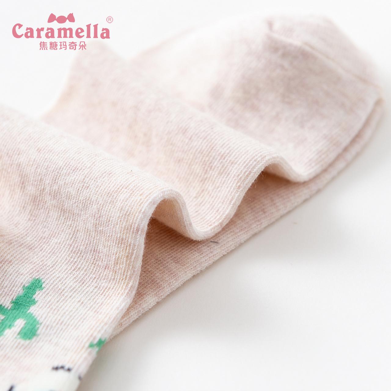 CARAMELLA潮流可爱卡通防臭加厚棉袜子女ins潮秋冬中长筒鼠年袜子