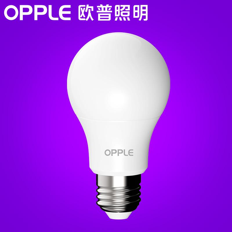 螺口单灯亮光源小电灯泡家用 e14e27 灯泡球泡节能灯 led 欧普照明