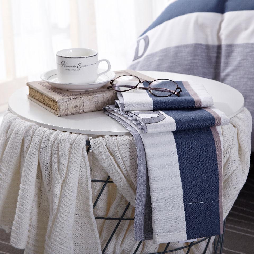 多喜爱全棉四件套床上用品简约条纹套件舒适床品律动青春