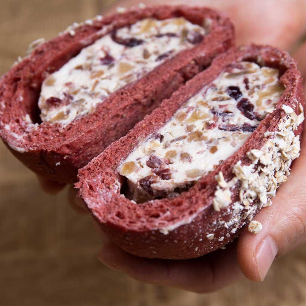 全麦欧包红丝绒乳酪杂粮早餐代餐无糖无油饱腹健身零食面包