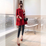 Young girls models autumn and winter women dress Chinese style improvement toast clothing winter small fragrant wind jacket costume Xiaoao