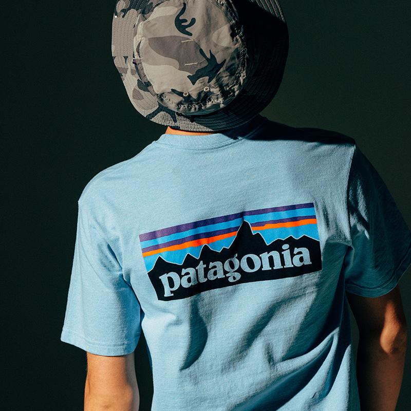 38512 恤男夏季潮流短袖 T 口袋 Logo 6 P 2020 恤 T 巴塔 PATAGONIA