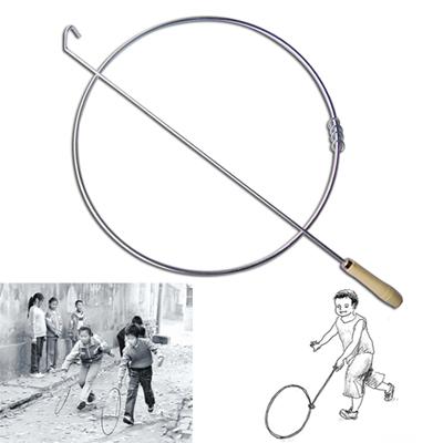 38cm50cm幼儿园滚铁环学生滚铁圈亲子怀旧玩具推铁环成人运动健身
