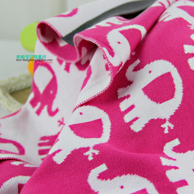 高品质宝宝双层纯棉毯 婴儿抱毯 新生儿针织毯 宝宝空调盖毯浴巾