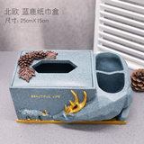 Tissue box Living room home creative cute Nordic ins light luxury European table coffee table tray toilet decoration