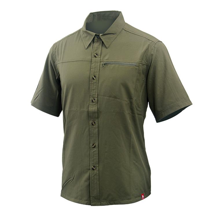 热带雨林户外男款轻薄干爽休闲防晒短袖衬衫速干衣 Hylaeion 力荐