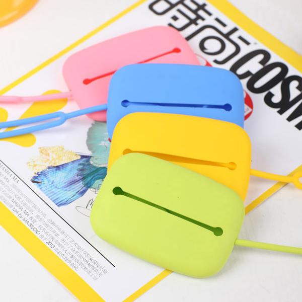 包邮  创意糖果色多功能硅胶钥匙包 卡包 零钱包钥匙扣 魔法卡包