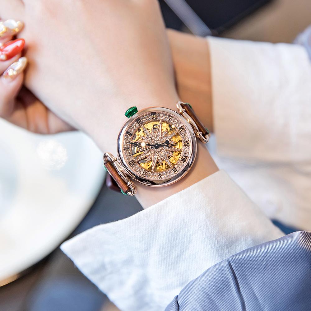 年新款专柜正品采用施华洛世奇元素重工手表女机械表轻奢大牌 2020