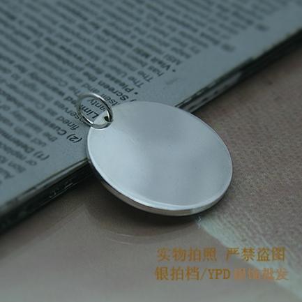 刻照片 定制定字 圆牌银坯 银牌 纯银 圆牌 纯银 99.9 银含量