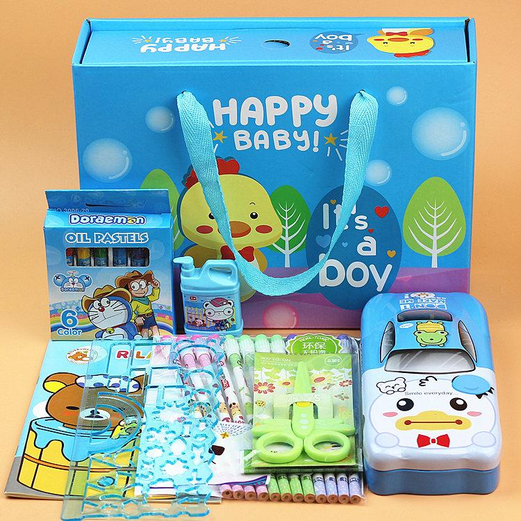 六一学习用品批发儿童节生日礼物开学奖品文具套装礼盒小学生大包