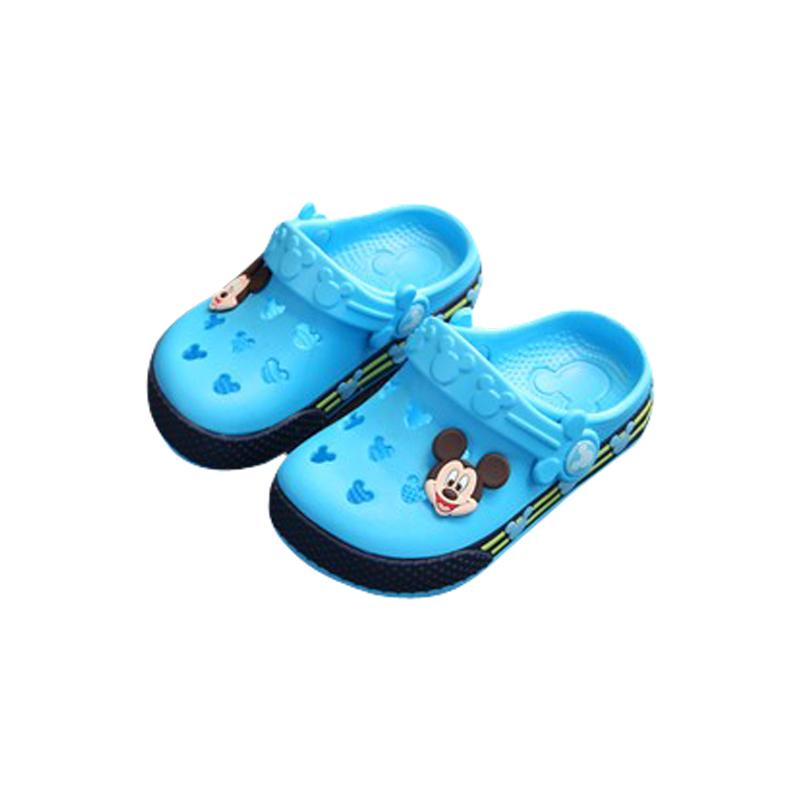 迪士尼儿童凉拖鞋夏男童女中大童宝宝洞洞鞋小孩防滑沙滩鞋家居鞋