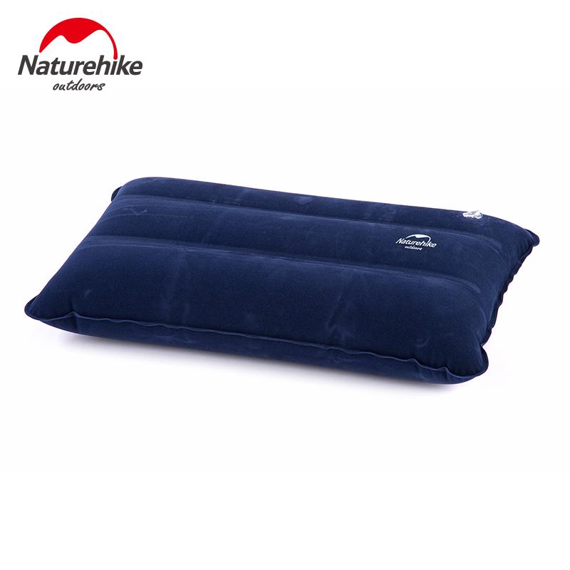 植绒充气枕头旅游便携枕 休闲露营午睡旅行枕 挪客充气枕户外 NH