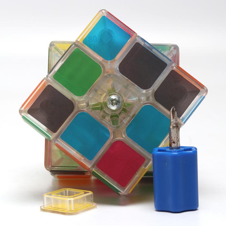 透明魔方三阶二阶四阶五阶3阶 比赛专用 金字塔斜转魔板 玩具套装