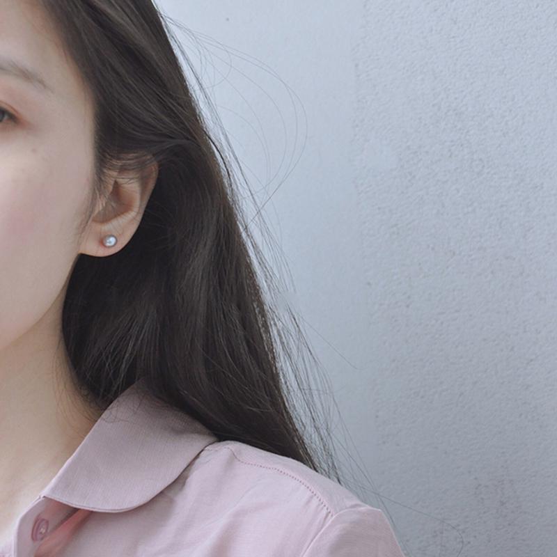 peiy925純銀珍珠耳釘女氣質韓國個性簡約創意冷淡風耳飾珍珠耳環