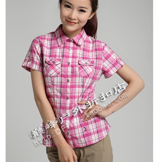 法國著名品牌MILLET/EIDER 女款短袖速幹襯衫斷碼特價!