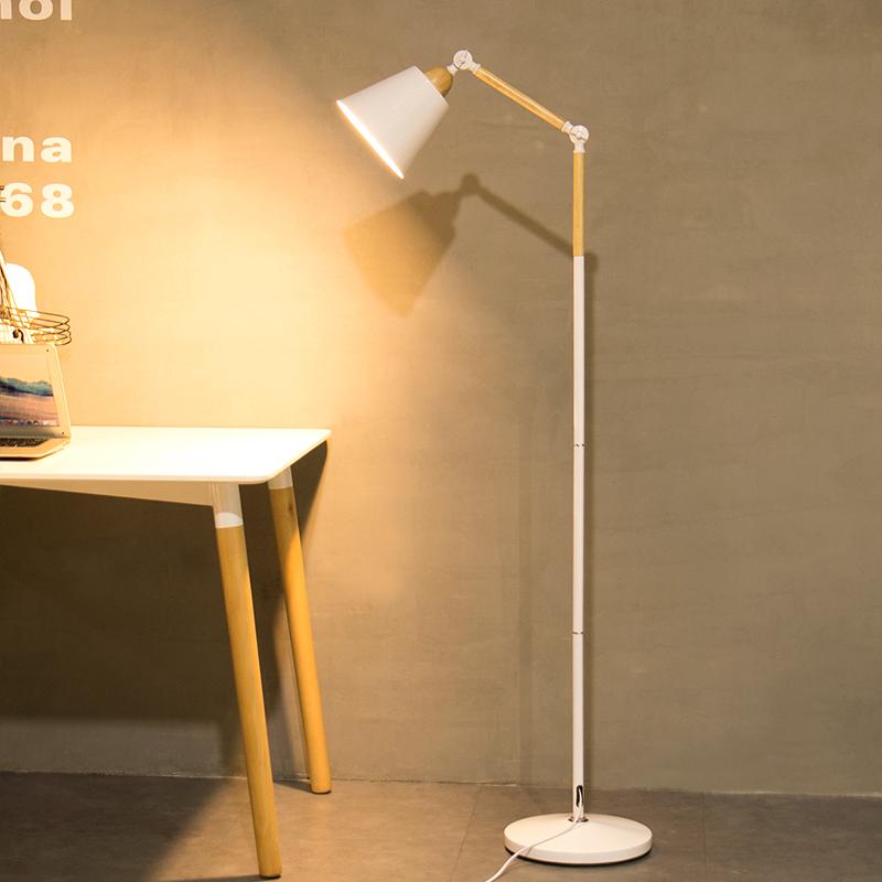 落地灯现代简约LED护眼钓鱼灯创意北欧宜家客厅卧室书房立式台灯