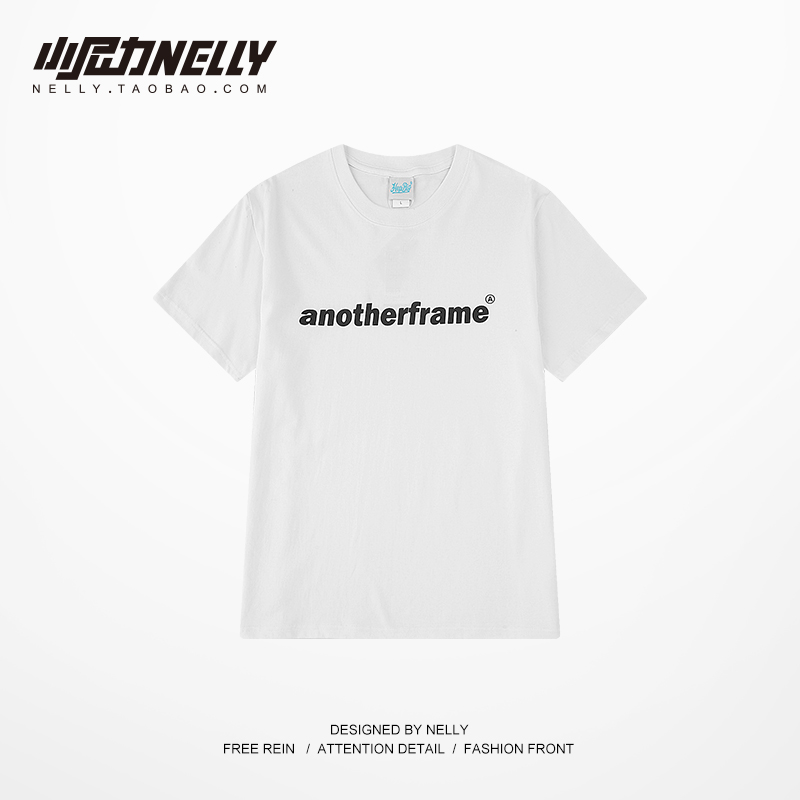 小尼力男装夏季短袖T恤男复古印花体恤宽松版打底衫潮牌T恤衫青年