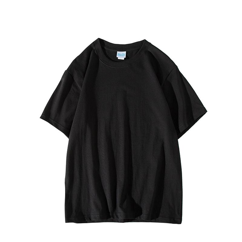 小尼力复古百搭纯棉纯色宽松短袖打底衫T恤男女体恤潮短袖衣服丅 No.4