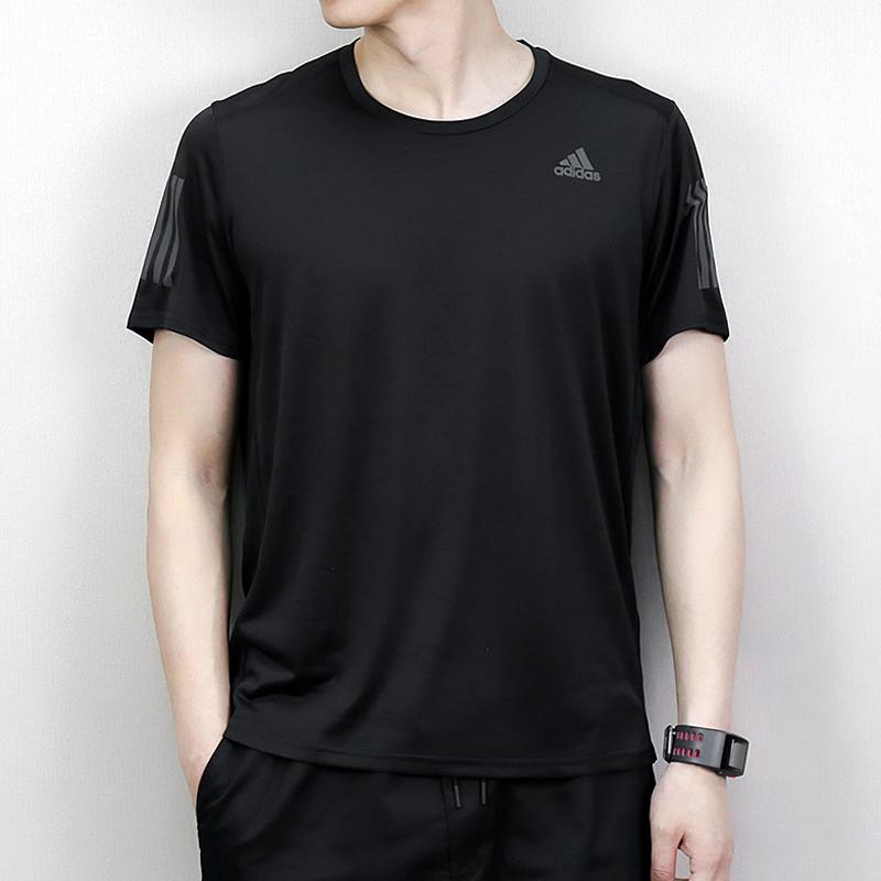 阿迪达斯男士短袖T恤2020夏季新款运动速干透气跑步训练T恤DM2810
