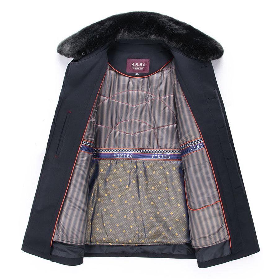 可拆卸内胆尼克服中老年棉衣父亲棉服男士冬装加肥加大码男装外套