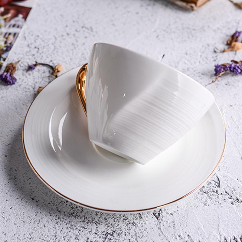 骨瓷咖啡杯碟套装陶瓷欧式英式意式个性简约高档拿铁杯下午茶杯