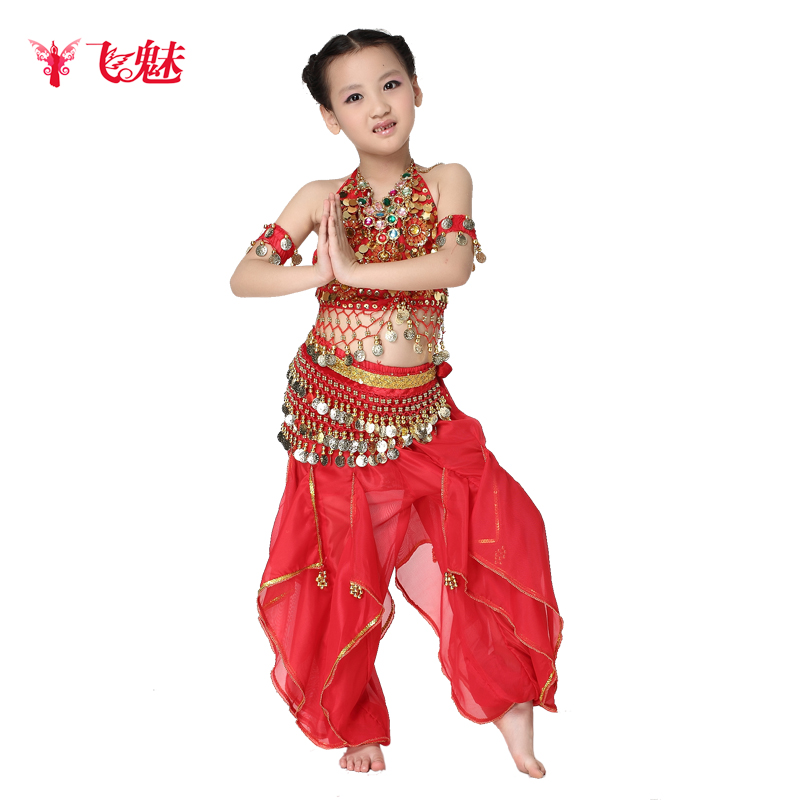 25d6fbc7a Buy Children of indian dance costumes female clothes and belly dance ...
