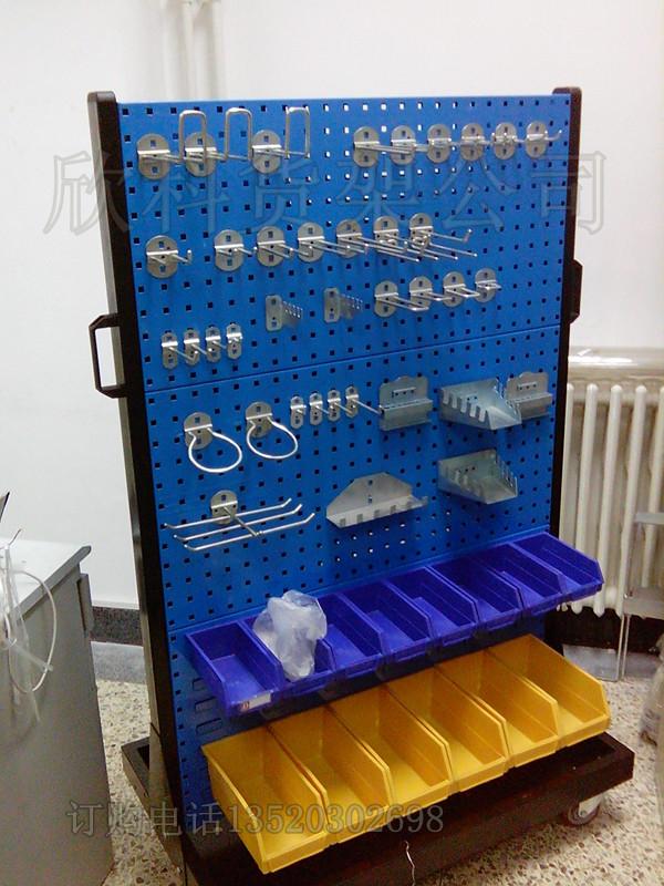 工具架挂板方孔板挂钩洞洞板工具收纳移动货架双面展示架置物架