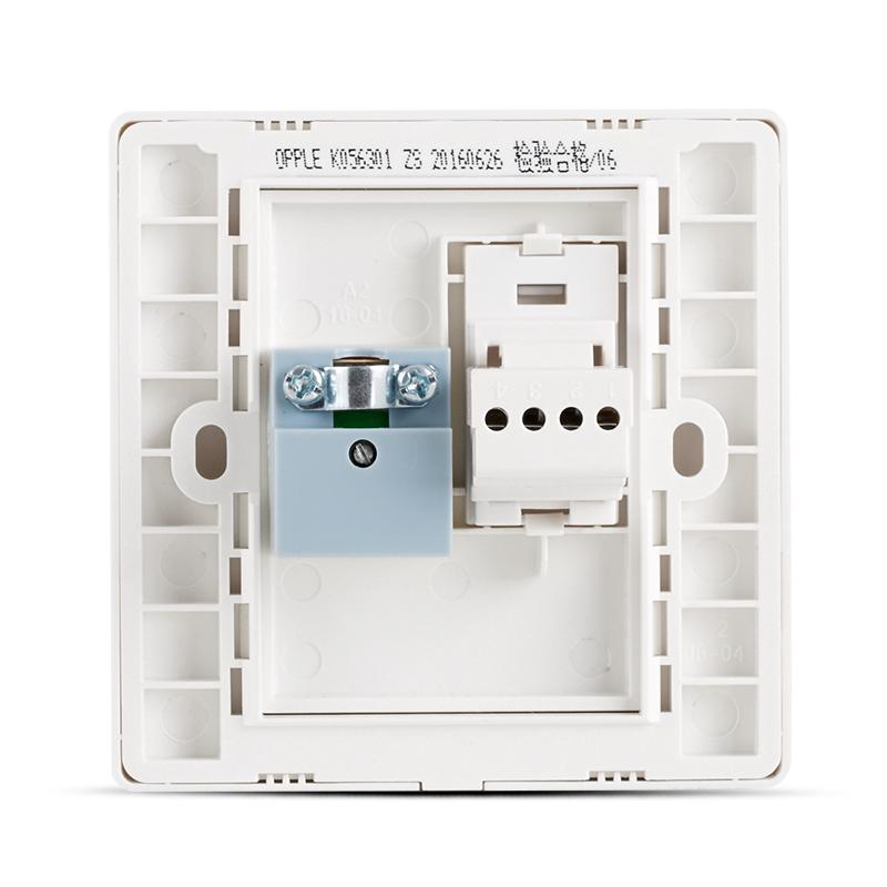 欧普照明 电视插电话插座面板 86型 有线电视插口电话插孔插座G
