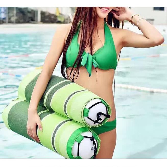 水上浮床 水上助泳袋浮排 休闲床 温泉水床 带网躺椅 靠背浮排