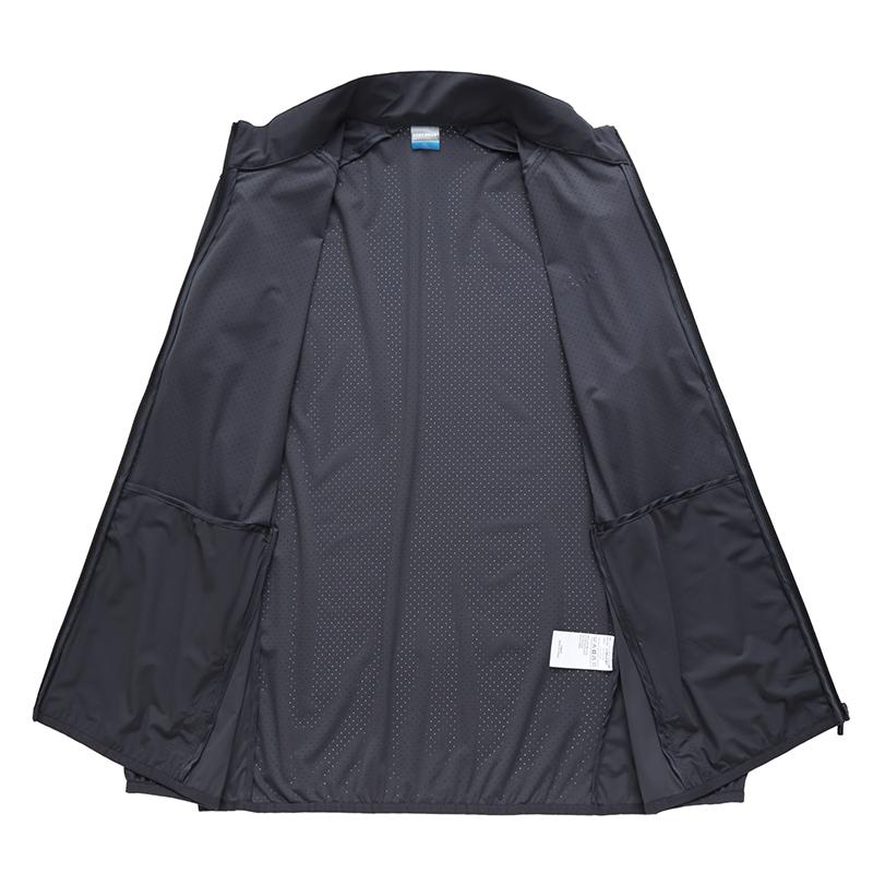 夏季加肥加大码男胖子超薄网眼透气运动风衣户外皮肤衣防晒衣外套