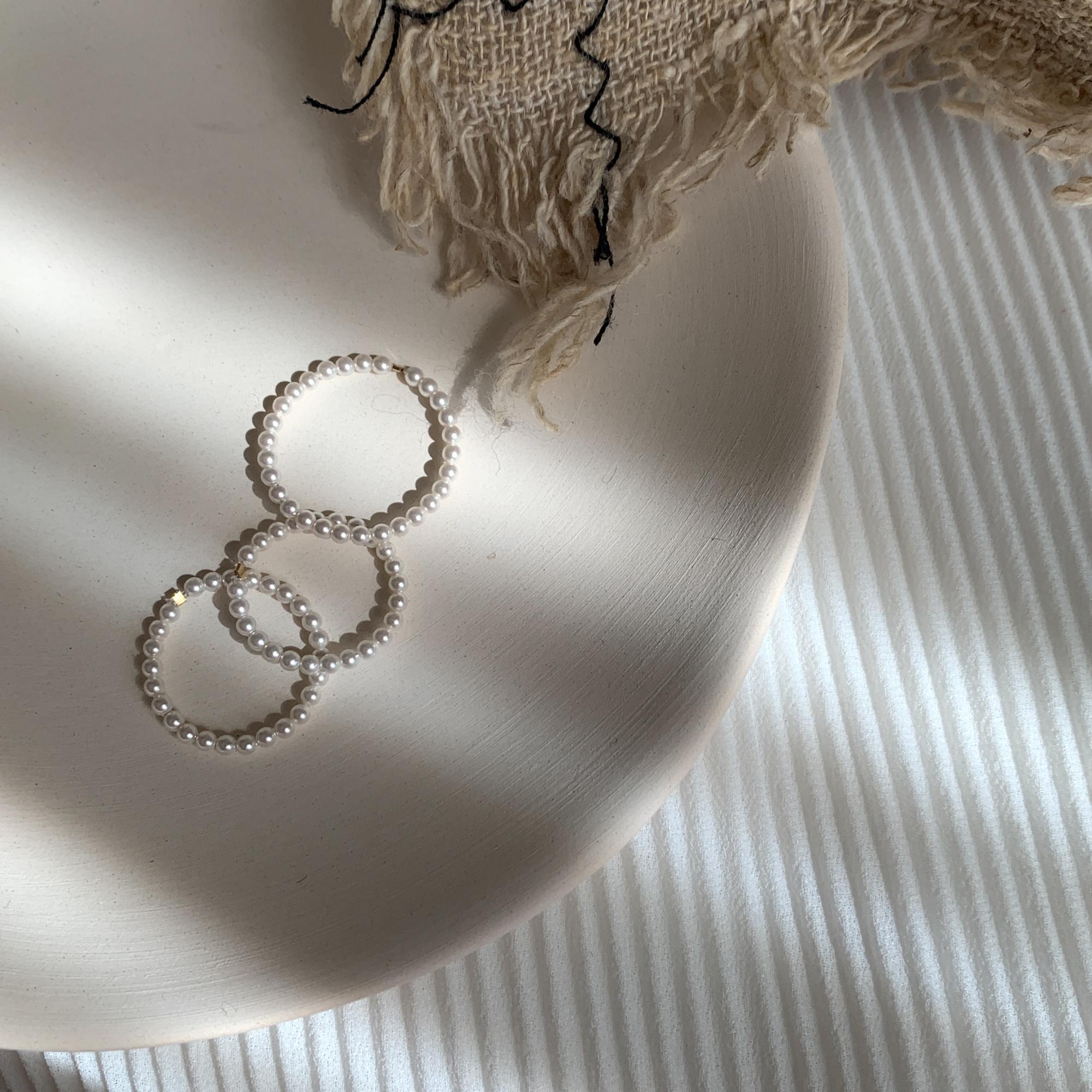 包金 两枚包邮手工定制珍珠戒指女指环日系百搭简约  巨百搭 14K