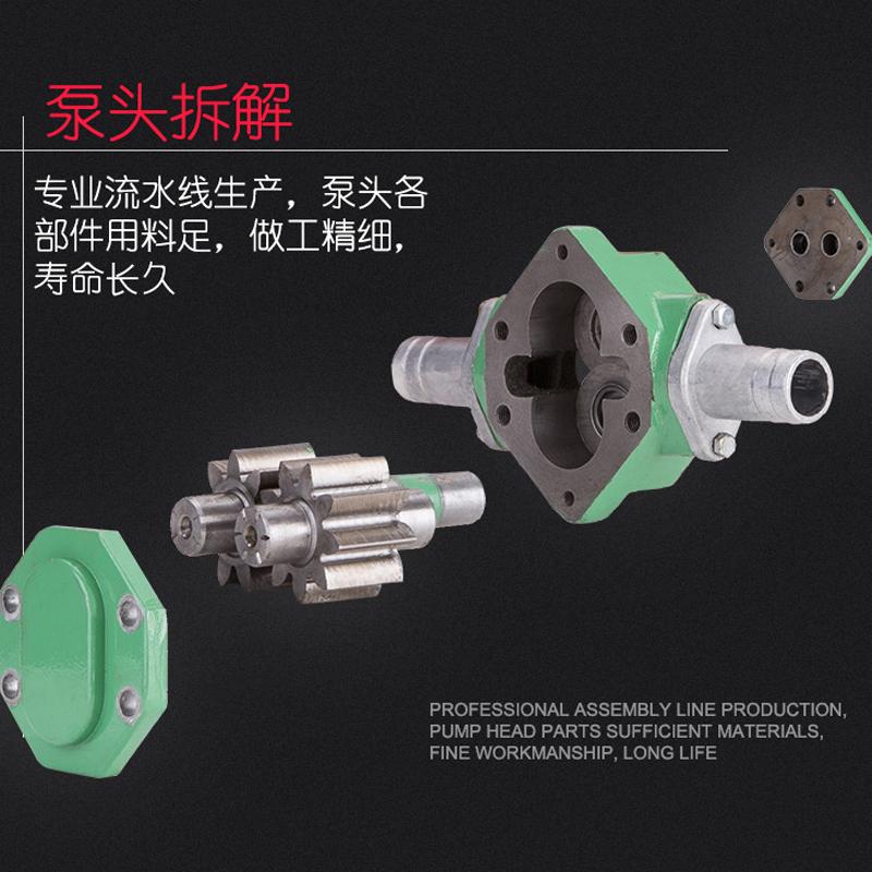 自吸齿轮抽油泵高粘度机油柴油食用油wcb齿轮泵手提便捷式电泵