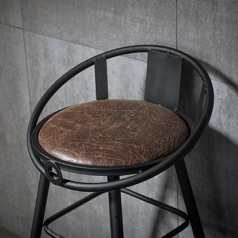 高椅子椅酒吧铁艺靠背吧台椅高脚凳咖啡厅休闲吧凳吧椅餐厅高脚椅