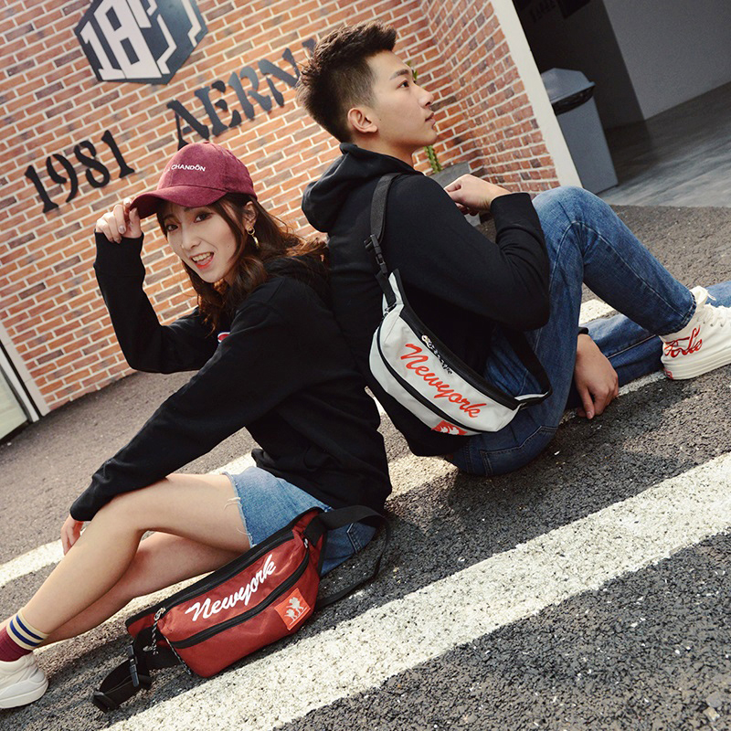 腰包男多功能胸包女韩版潮牌个性时尚户外骑行运动小包单肩斜挎包