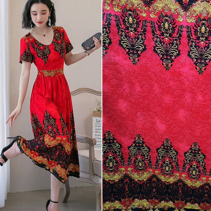 小碎花棉绸布料 人造棉面料 丝光棉 夏季连衣裙面料 桑绵绸