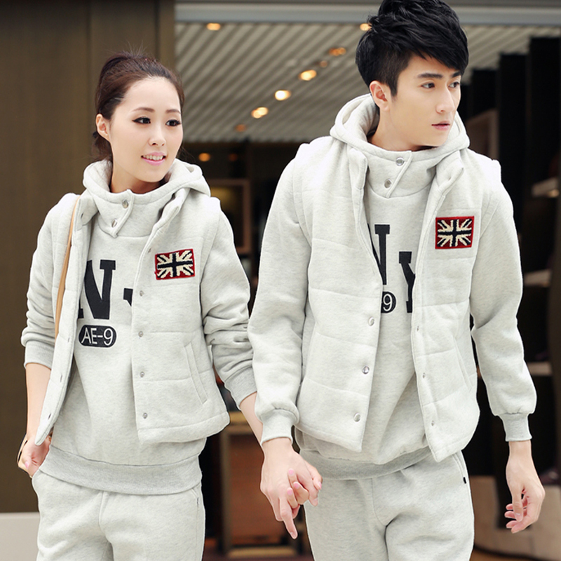 c3e89608e6d Buy Flannel suits for men and women sports suit sweater plus thick ...