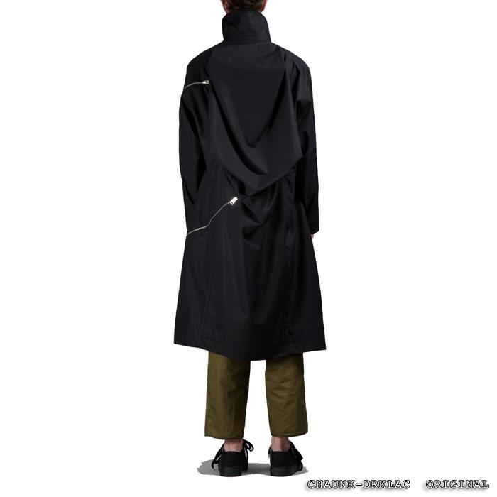 CHAUNK-DRKLAC#ANN先锋暗黑高街拉链解构宽松廓形中长款风衣男