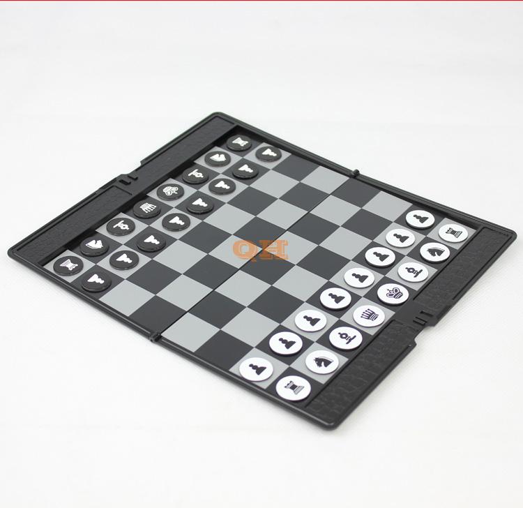 友邦UB皮夹式纽扣中国象棋围棋子超薄迷你磁性折叠国际象棋棋盘