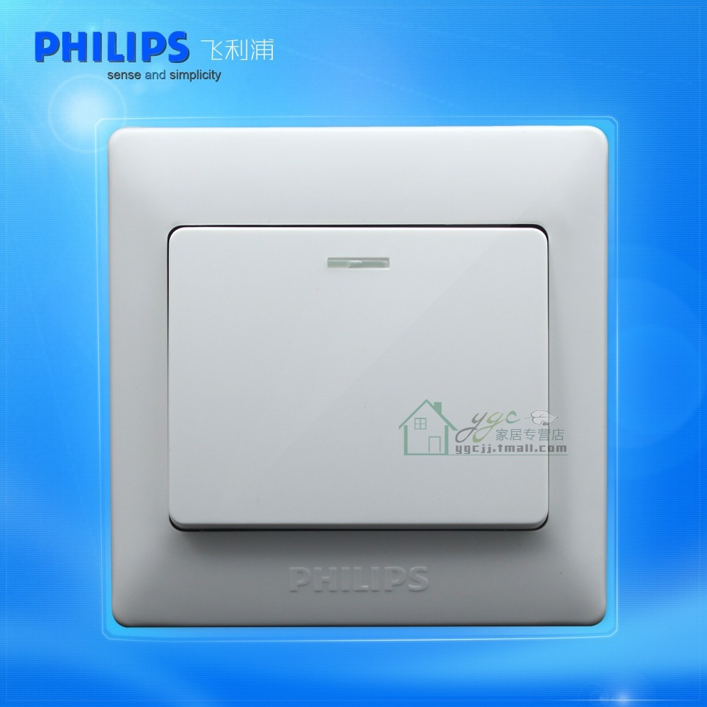 Philips Switch Socket Panel Genuine Ivory Q7 Series Elegant White One Open A Single Control With Fluorescent