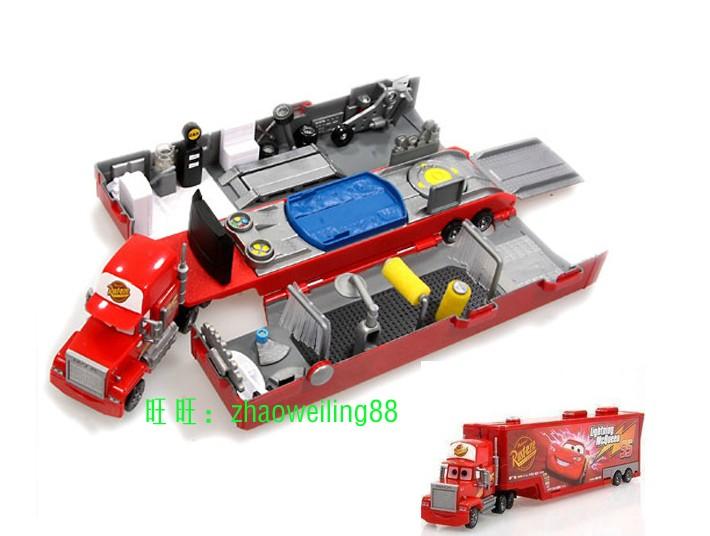 正版汽车总动员玩具车模麦大叔带场景版 麦昆司机 货柜车阿麦