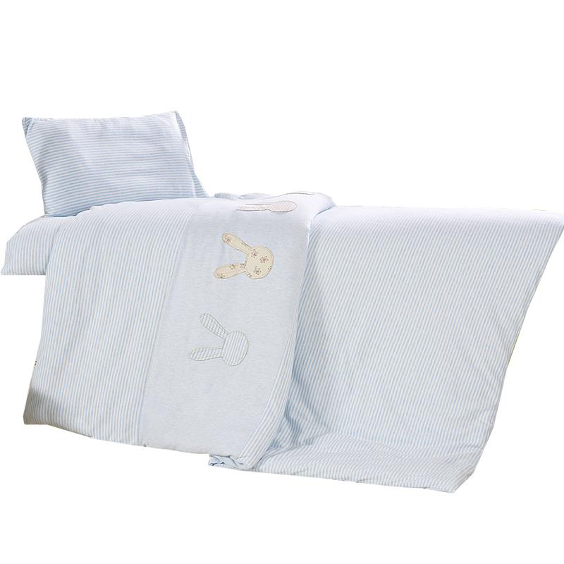 A类彩棉婴幼儿园被子七件套 儿童纯棉四季秋冬午睡被褥棉花三件套