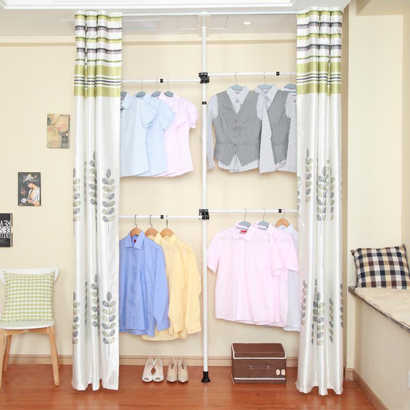 衣柜 简易钢管加厚布艺钢架简约现代衣橱经济型组装收纳组合衣柜