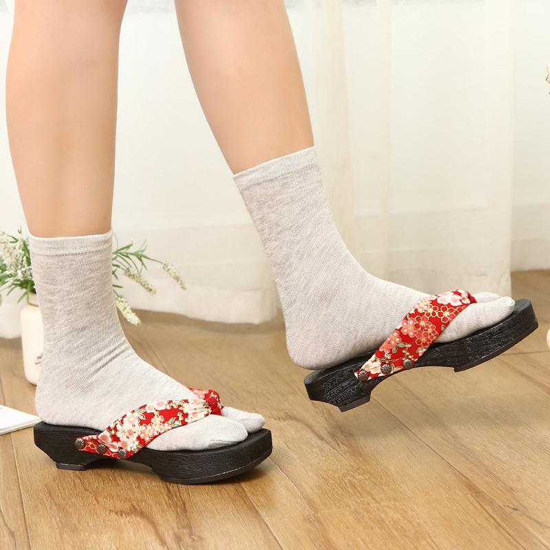 日式白色木屐袜 男士女士纯色二趾袜人字拖两趾袜 夹趾拖鞋分趾袜