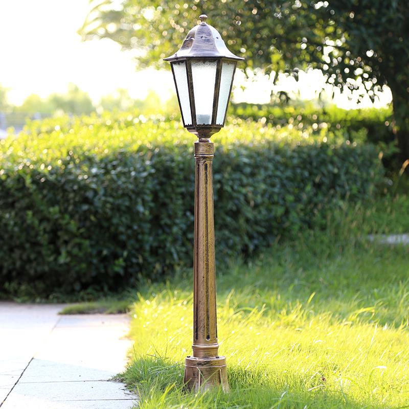 欧式复古庭院灯小区别墅花园草地灯防锈路灯杆户外防水景观灯包邮